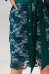 Платье 632-02 зеленое
