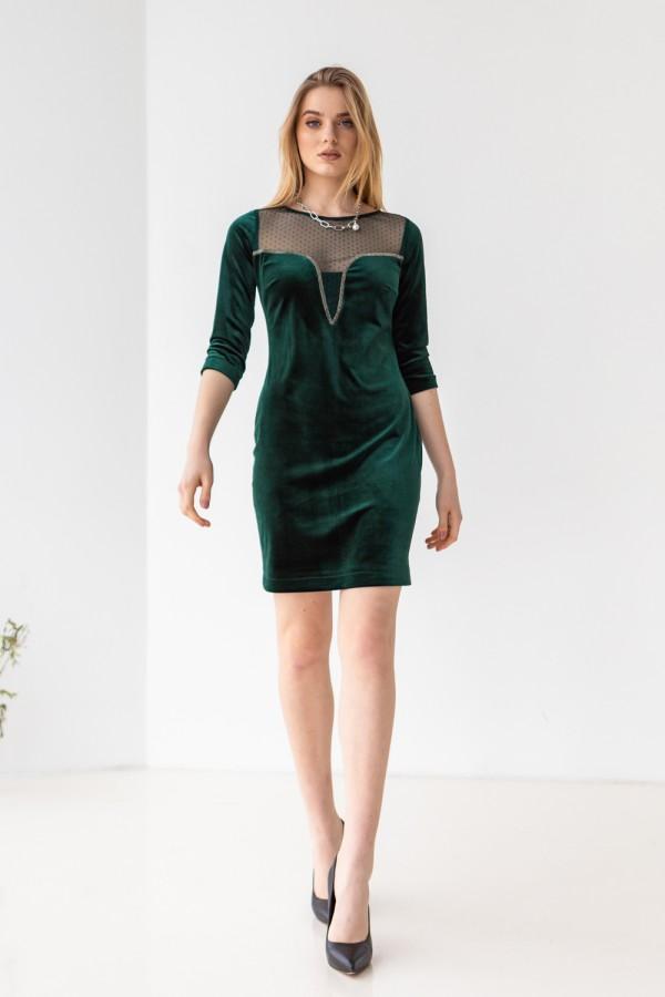 Платье 634-02 зеленое