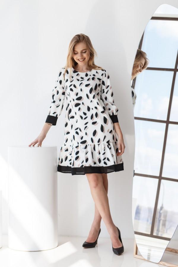 Платье 638-01 белое