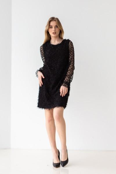Платье 649/1-01 черное
