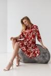 Платье 661-05 красное