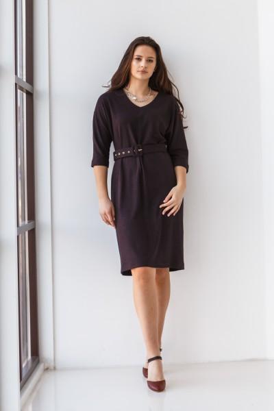 Платье 704-01 баклажановое