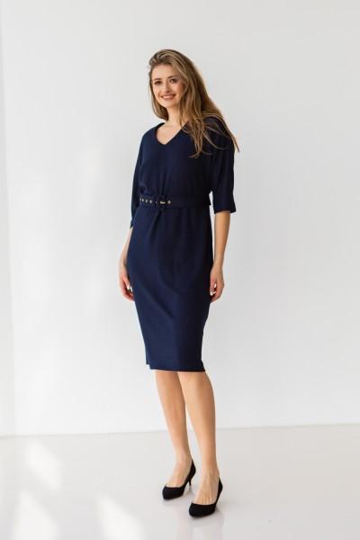 Платье 704-02 темно синее