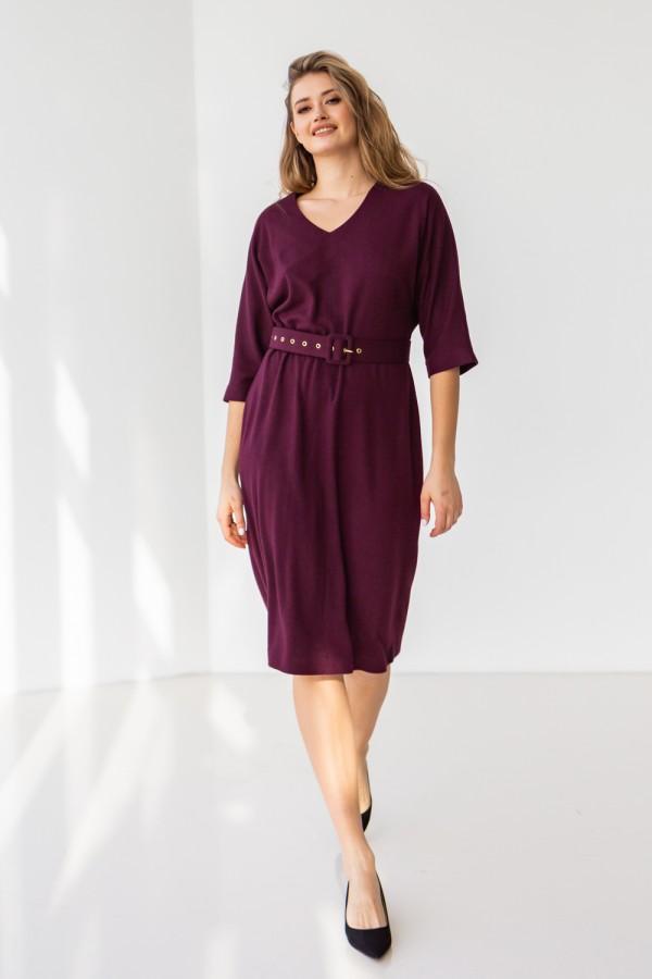 Платье 704-03 бордовое