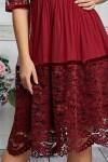 Бордовое платье 605-01